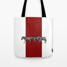 Lined Zebras Tote Bag