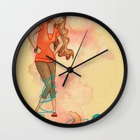 Tangled Trouble Wall Clock