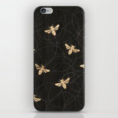 Busy Bees (Black) iPhone & iPod Skin