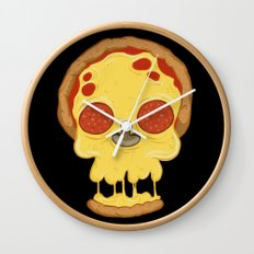 Deadly pizza Wall Clock