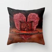 Deepheart Throw Pillow