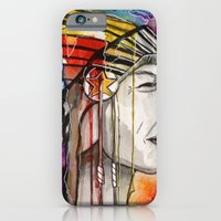 native american iPhone & iPod Cases featuring Native American by Hannah Brownfield Camacho