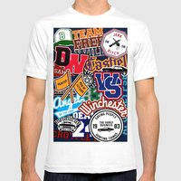 TEAM SPN Mens Fitted Tee White SMALL