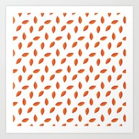 Orange Leaves Art Print