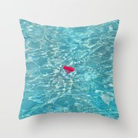 Petal Pool Throw Pillow
