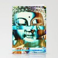 Glitch Buddha #3 Stationery Cards