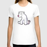Polar bear Womens Fitted Tee White SMALL
