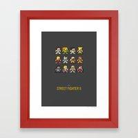 Mega Street Fighter II Framed Art Print