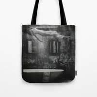 The floating woman Tote Bag