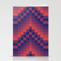 Pixelated Chevron Stationery Cards