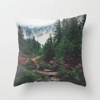 Mountain Trails Throw Pillow