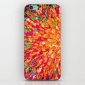 NEON SPLASH - WOW Intense Dash of Cheerful Color, Bold Water Waves Nature Lovers Modern Abstract  iPhone & iPod Skin