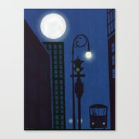 Last Stop On The Night Bus Canvas Print