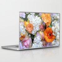 flowers Laptop & iPad Skins featuring Joy is not in Things, it is in Us! by Joke Vermeer