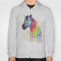 Zebra Watercolor Rainbow… Hoody