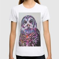 Something Like An Owl Womens Fitted Tee Ash Grey SMALL