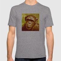 Camo Monkey! Mens Fitted Tee Tri-Grey SMALL
