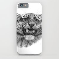 iPhone & iPod Case featuring Tiger roar  G082 by S-Schukina