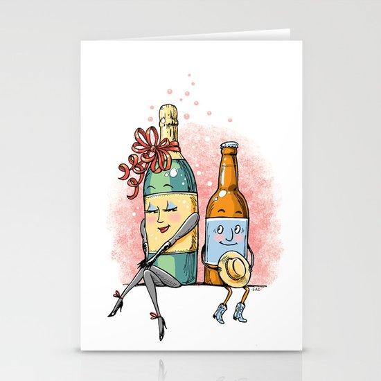 Bottled Romance Stationery Card