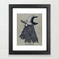 Grey Wizard Framed Art Print