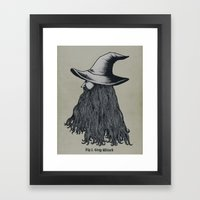 Grey Wizard Framed Art Print