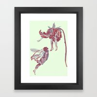 Lovers come and grow. Framed Art Print