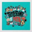 Time Bomb of Pain Canvas Print