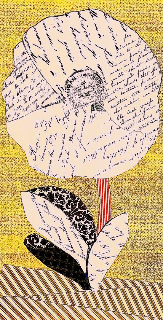 Script Flower Art Print