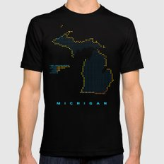 MDOT - Michigan Land & Maritime Borders Mens Fitted Tee Black SMALL