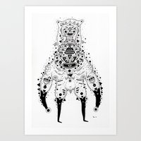Crab Man Art Print