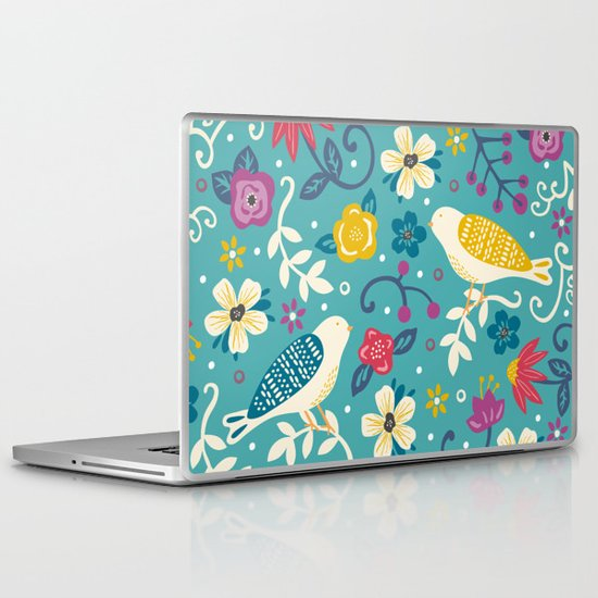 Garden Birds Laptop & iPad Skin
