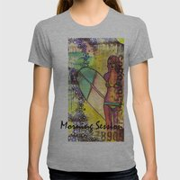 Morning Session Womens Fitted Tee Athletic Grey SMALL