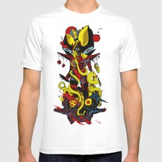 Queen Skullbash Mens Fitted Tee White SMALL
