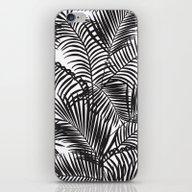Modern Black Tropical Pa… iPhone & iPod Skin