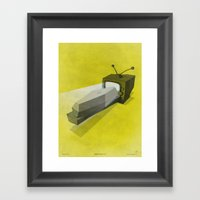 What's On TV? / II Framed Art Print