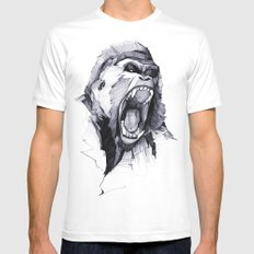 Wild Rage SMALL Mens Fitted Tee White