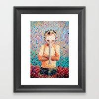 Stop Nuclear Framed Art Print