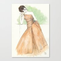 'Gillian' Watercolor Fas… Canvas Print
