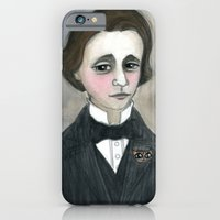 iPhone & iPod Case featuring Lewis Carroll and the Cheshire Cat by Debra Styer