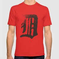 Detroit Mens Fitted Tee Red SMALL