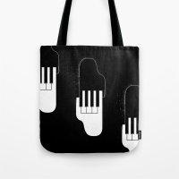 Music Hands Tote Bag