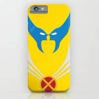 iPhone & iPod Case featuring Minimal Wolverine by Shawn P Cowan