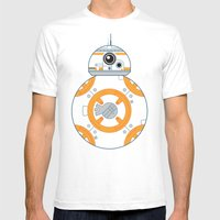 Minimal BB8 Droid Mens Fitted Tee White SMALL