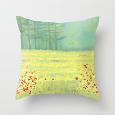 Meadow near Périgueux Throw Pillow