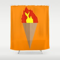 First-Gen Flambé Shower Curtain