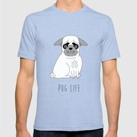 Pug Life Mens Fitted Tee Tri-Blue SMALL