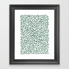 Delicate Green Leaves Framed Art Print