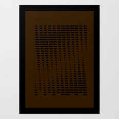 2012 Moon Phases Art Print
