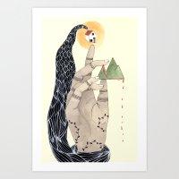 Hand to Home Art Print