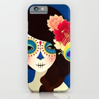 iPhone & iPod Case featuring La Muertita ~ Candy Flavoured by Jenny Lloyd Illustration